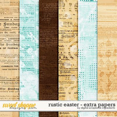 Rustic Easter | Extra Papers by Digital Scrapbook Ingredients