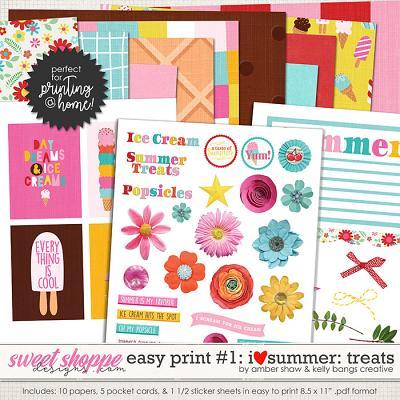 I Heart Summer: Treats EZ Print Pack 1 by Amber Shaw & Kelly Bangs Creative