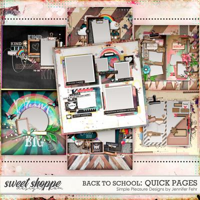 back to school quick pages: simple pleasure designs by jennifer fehr