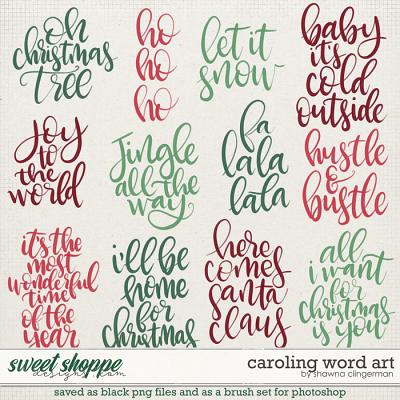 Caroling Word Art by Shawna Clingerman