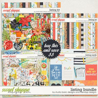 Listing - Bundle by Studio Basic & WendyP Designs