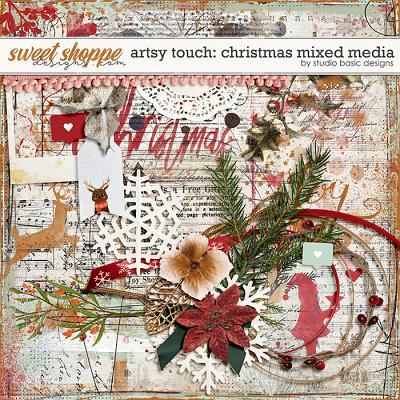 Artsy Touch: Christmas Mixed Media by Studio Basic