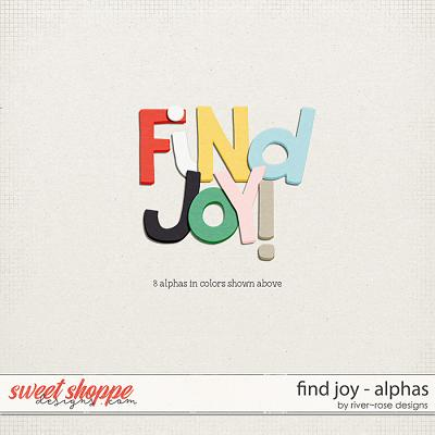 Find Joy Alphas by River Rose Designs