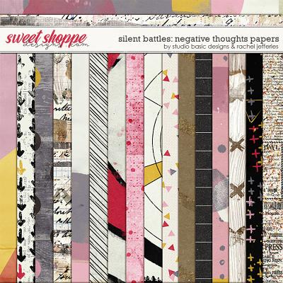 Silent Battles: Negative Thoughts - Papers by Studio Basic Designs & Rachel Jefferies