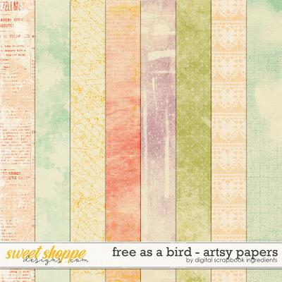 Free As A Bird | Artsy Papers by Digital Scrapbook Ingredients