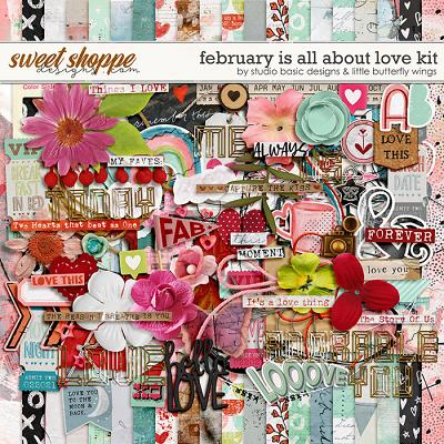 February Is All About Love Kit by Studio Basic and Little Butterfly Wings