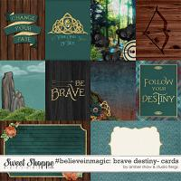#believeinmagic:  Brave Destiny Cards by Amber Shaw & Studio Flergs