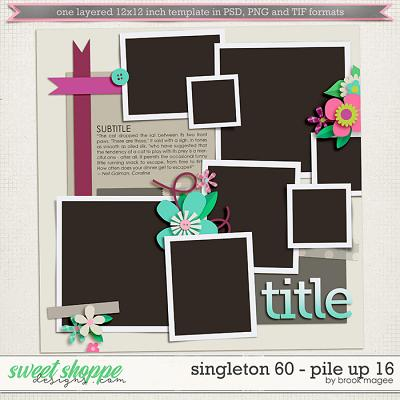 Brook's Templates - Singleton 60 - Pile Up 16 by Brook Magee