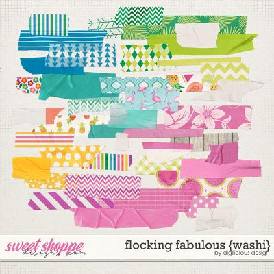 Flocking Fabulous {Washi} by Digilicious Design