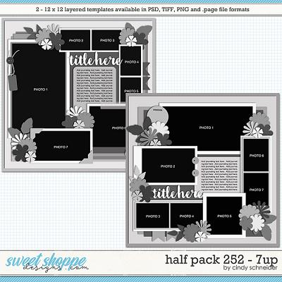Cindy's Layered Templates - Half Pack 252: 7up by Cindy Schneider