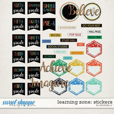 Learning Zone: Stickers by Amanda Yi