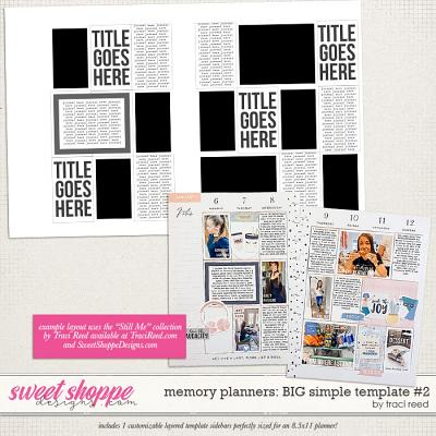 Memory Planners - Big - Simple #2 by Traci Reed