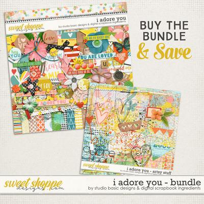 I Adore You Bundle by Digital Scrapbook Ingredients and Studio Basic