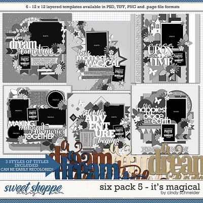 Cindy's Layered Templates - Six Pack 5: It's Magical by Cindy Schneider