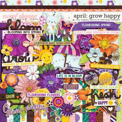 April: Grow happy by Sugary Fancy and WendyP Designs