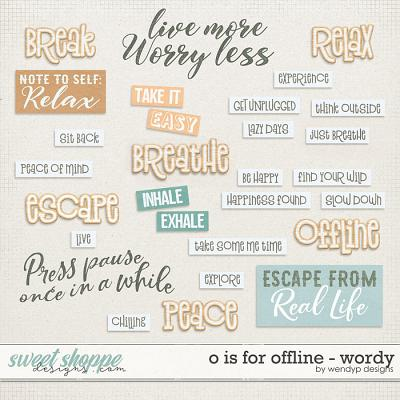 O is for Offline - wordy by WendyP Designs