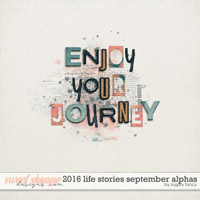 2016 Life Stories - September Alphabets by Sugary Fancy