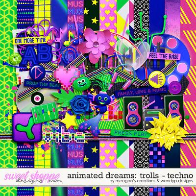 Animated Dream: Trolls- Techno by Meagan's Creations and WendyP Designs