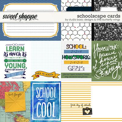 Schoolscape Cards by Studio Basic and Little Butterfly Wings