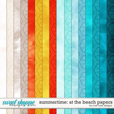 Summertime: At the Beach Papers by River Rose Designs