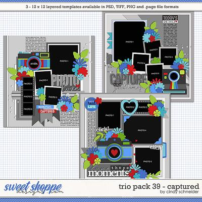 Cindy's Layered Templates - Trio Pack 39: Captured by Cindy Schneider