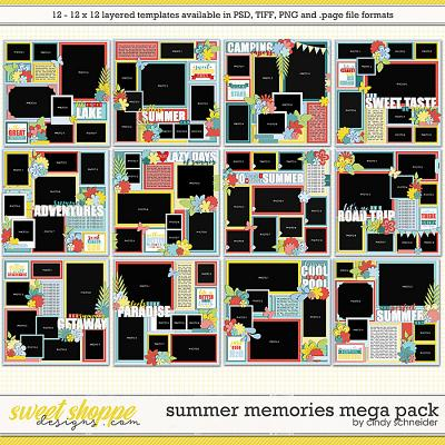 Cindy's Layered Templates - Summer Memories Mega Pack by Cindy Schneider