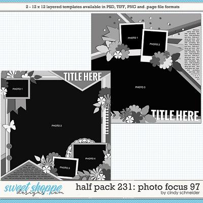 Cindy's Layered Templates - Half Pack 231: Photo Focus 97 by Cindy Schneider