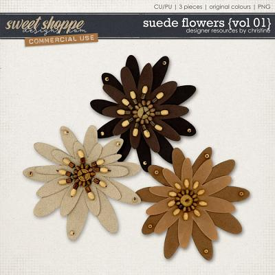 Suede Flowers {Vol 01} by Christine Mortimer