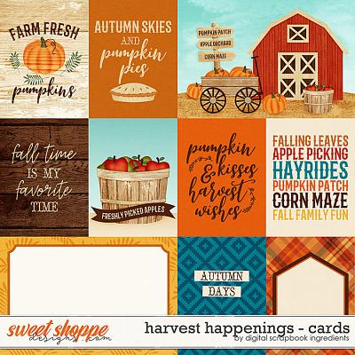 Harvest Happenings | Cards by Digital Scrapbook Ingredients