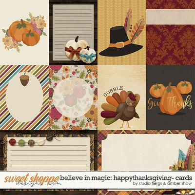 Believe in Magic: Happy Thanksgiving Cards by Amber Shaw & Studio Flergs