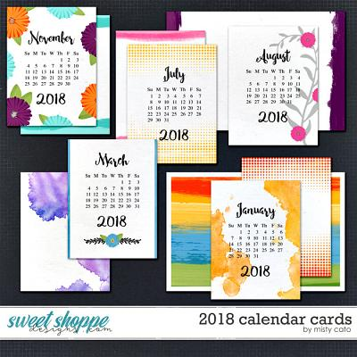 2018 Calendar Cards by Misty Cato