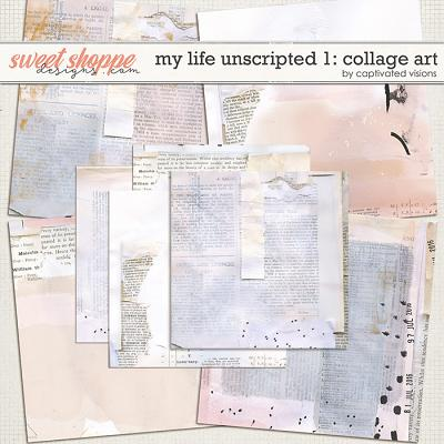 My Life Unscripted 1: Collage Art Papers by Captivated Visions