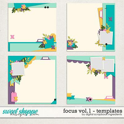Focus Templates Vol.1 by Digital Scrapbook Ingredients