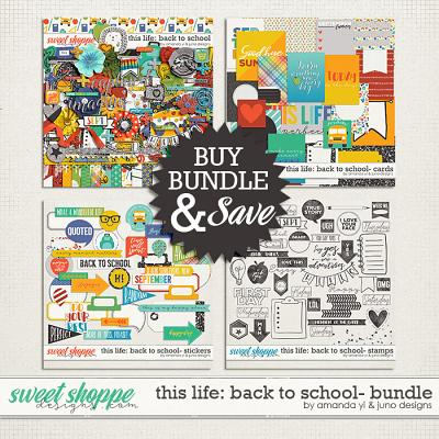 This Life: Back To School- Bundle by Amanda Yi & Juno Designs