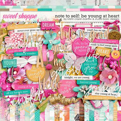Note To Self: Be Young At Heart Kit by Kristin Cronin-Barrow & Studio Basic