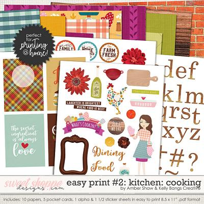 In My Kitchen: Cooking Easy Print #2 by Amber Shaw and Kelly Bangs Creative