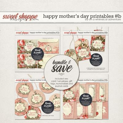 Happy Mother's Day Printables Red Bundle by On A Whimsical Adventure