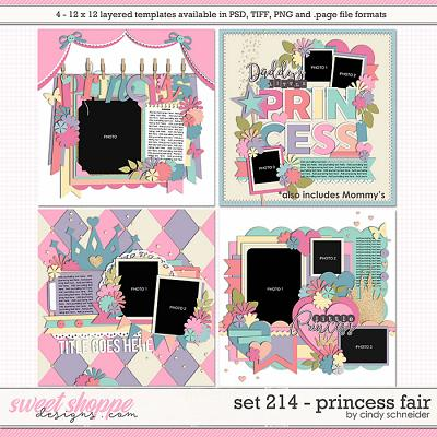 Cindy's Layered Templates - Set 214: Princess Fair by Cindy Schneider