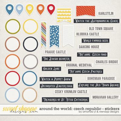 Around the world: Czech Republic - Stickers by Amanda Yi & WendyP Designs