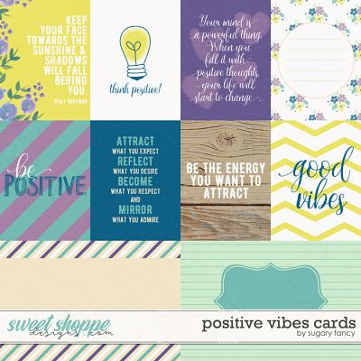 Positive Vibes Cards by Sugary Fancy