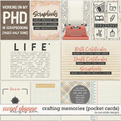 Crafting Memories Pocket Cards by Ponytails
