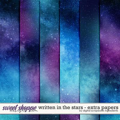 Written In The Stars | Extra Papers by Digital Scrapbook Ingredients