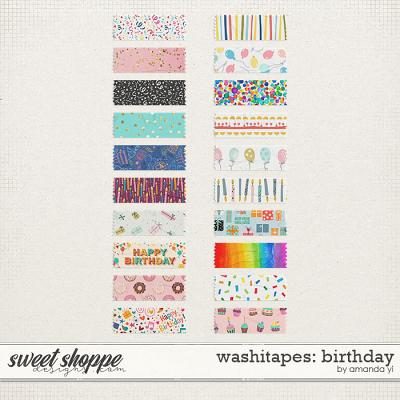 Washi Tapes: Birthday by Amanda Yi