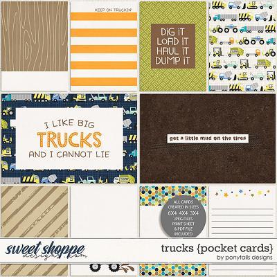Trucks Pocket Cards by Ponytails