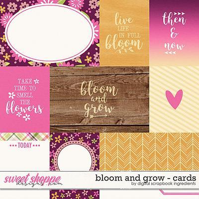 Bloom And Grow | Cards by Digital Scrapbook Ingredients