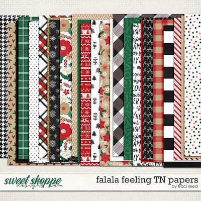 FaLaLa Feeling Traveler's Notebook Papers by Traci Reed