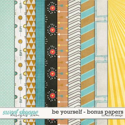 Be Yourself - Bonus Papers by Red Ivy Design