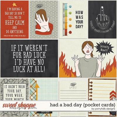 Had a Bad Day Pocket Cards by Ponytails