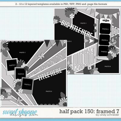 Cindy's Layered Templates - Half Pack 150: Framed 7 by Cindy Schneider