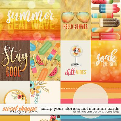 Scrap Your Stories: Hot Summer- CARDS by Studio Flergs and Kristin Cronin-Barrow